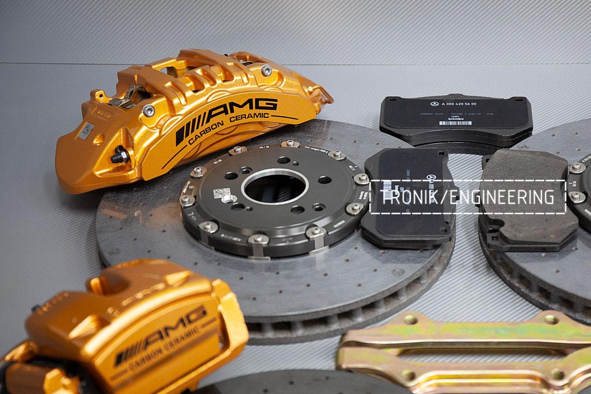 Карбон-керамическая тормозная система Mercedes-Benz AMG GT53 W290. Фотография 5