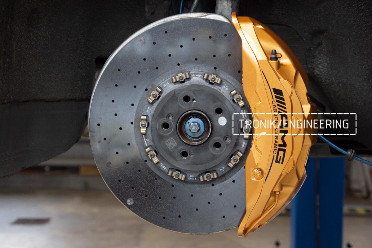 Комплект дооснащения 10-ти поршневым суппортом Mercedes-Benz S500 W217. Фотография 8
