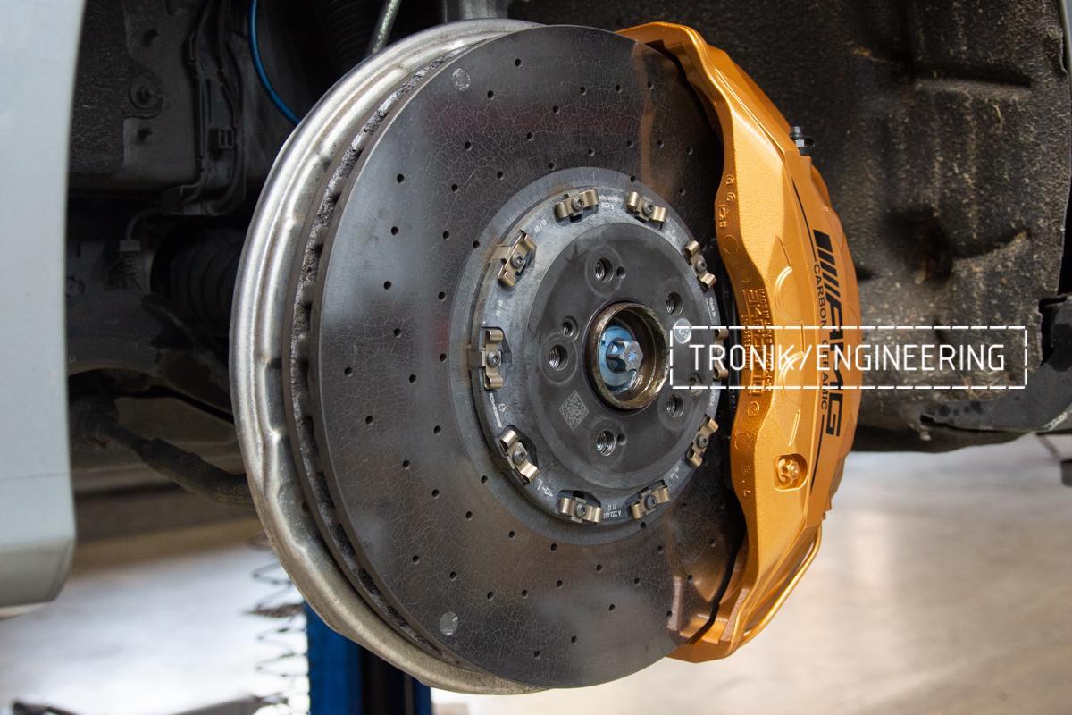 Комплект дооснащения 10-ти поршневым суппортом Mercedes-Benz S500 W217. Фотография 6