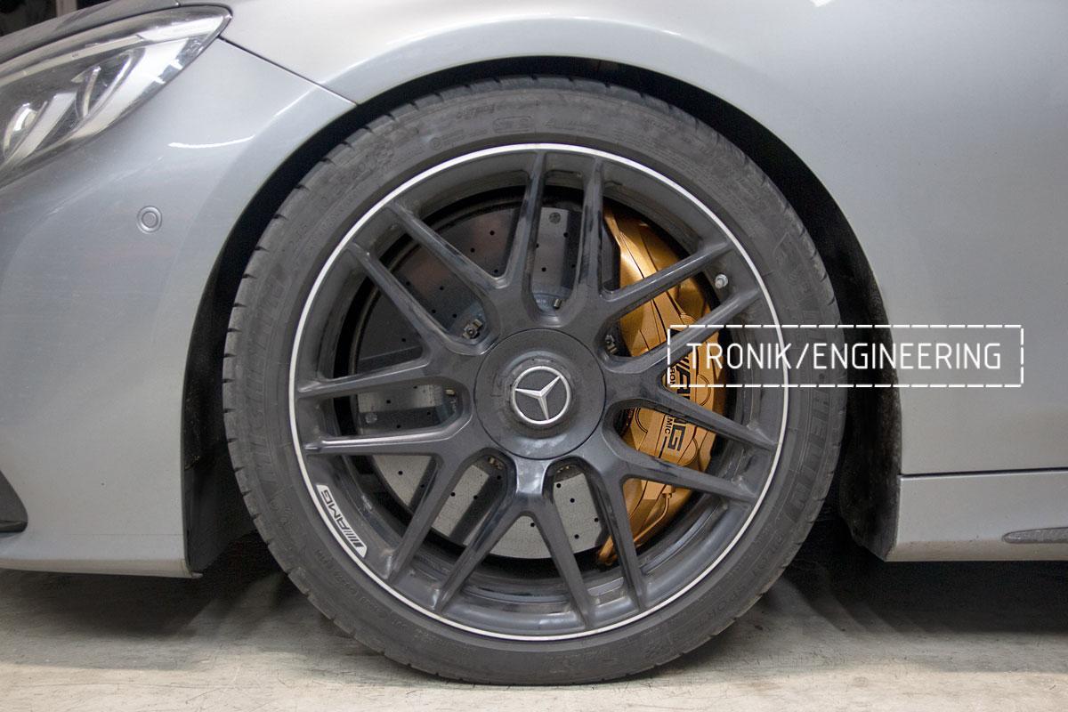 Комплект дооснащения 10-ти поршневым суппортом Mercedes-Benz S500 W217. Фотография 12
