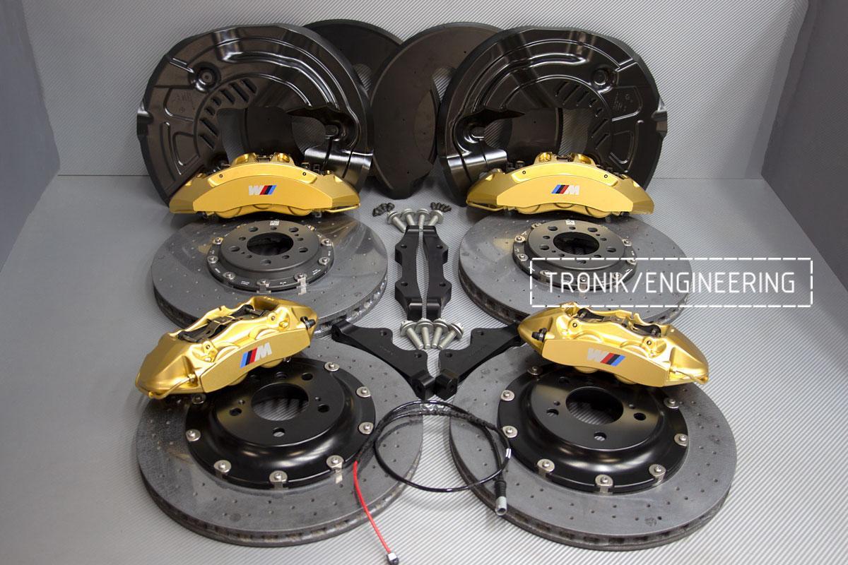 Комплект карбон-керамической тормозной системы BMW 240i F22. Фотография 2