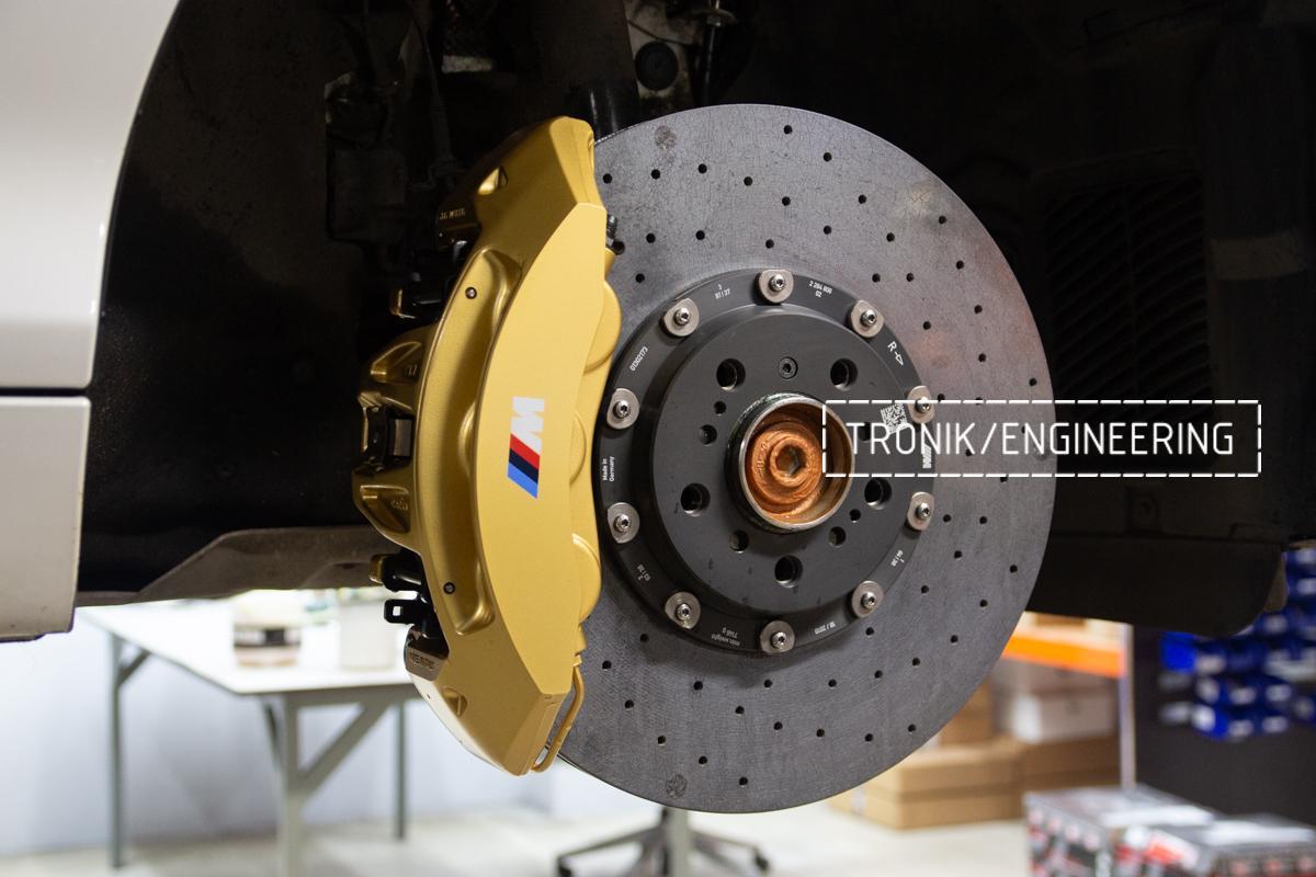 Комплект карбон-керамической тормозной системы BMW 240i F22. Фотография 11