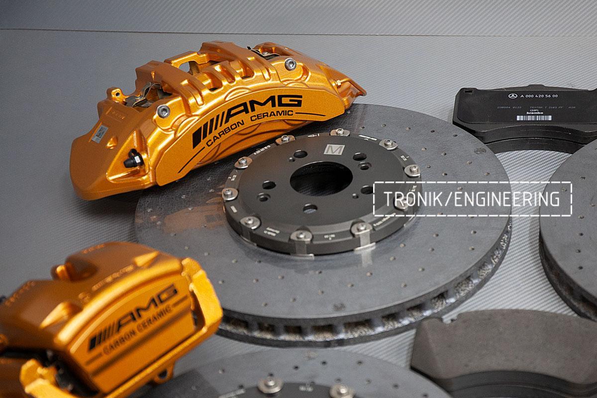 Карбон-керамическая тормозная система Mercedes-Benz AMG GT W290. Фотография 2
