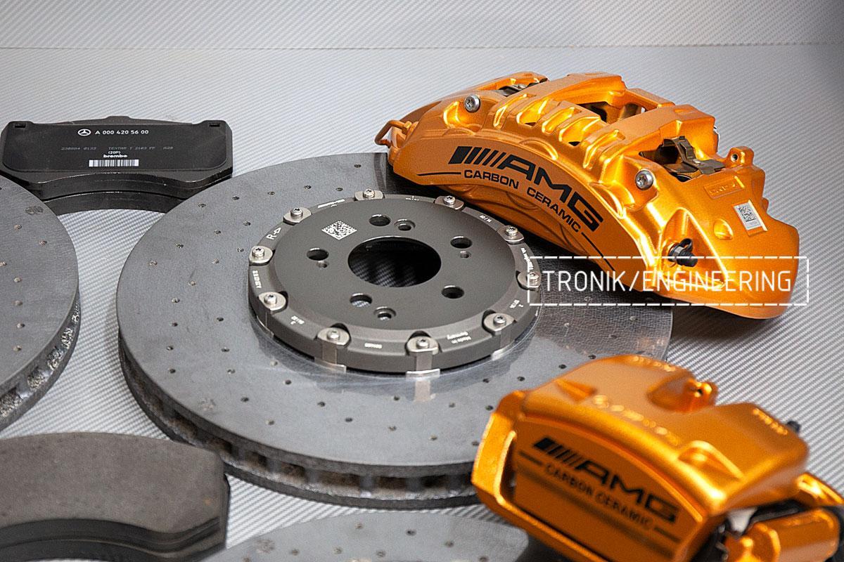 Карбон-керамическая тормозная система Mercedes-Benz AMG GT W290. Фотография 3