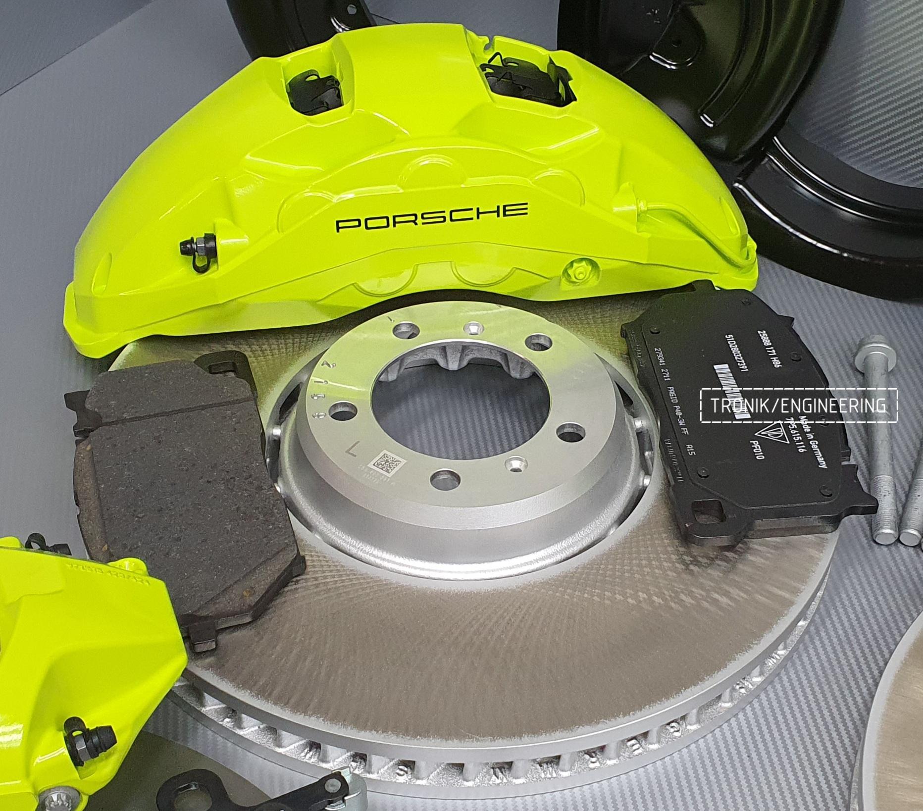 Комплект дооснащения тормозной системой Porsche Cayenne 9YA. Фотография 3
