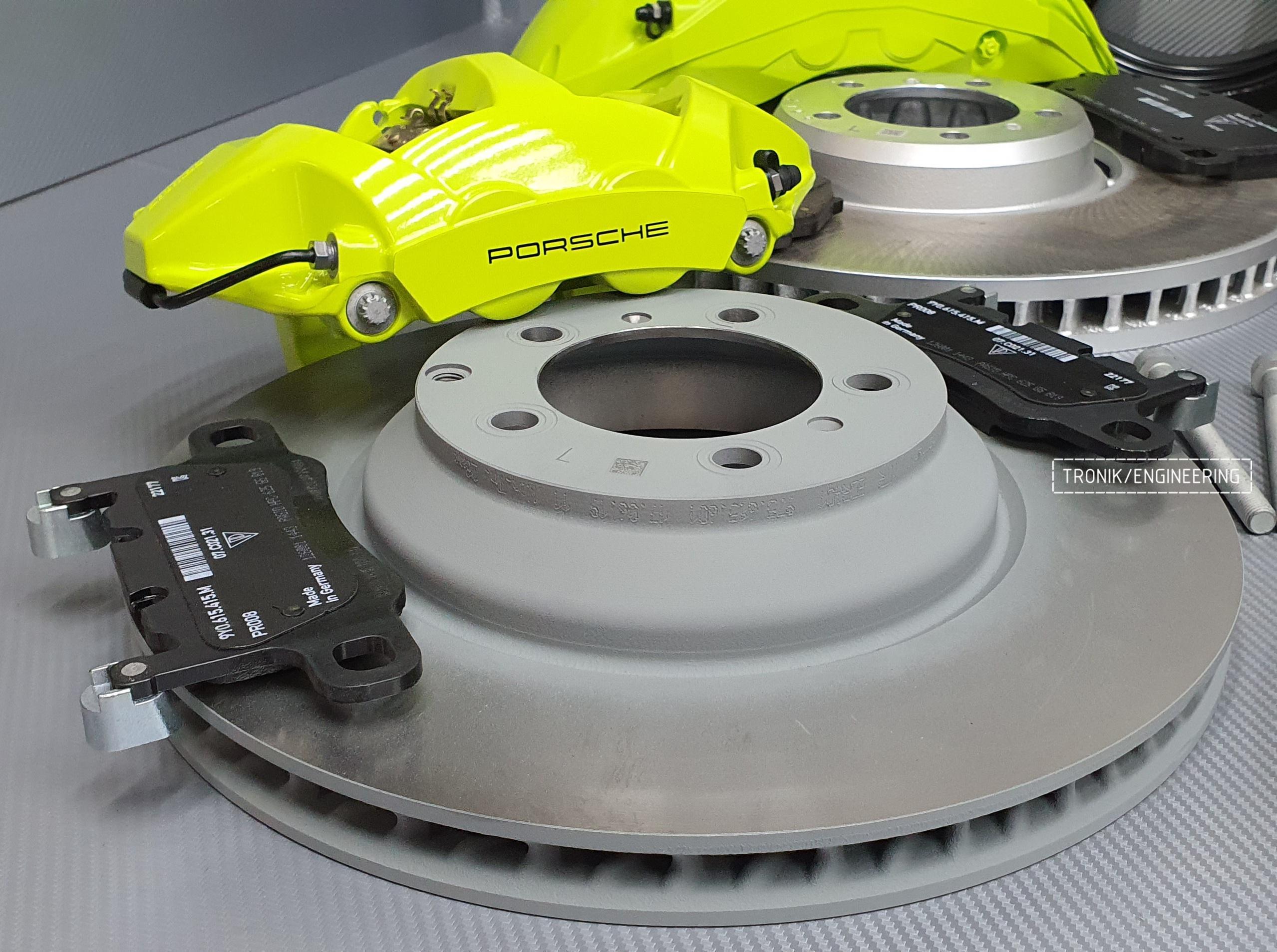 Комплект дооснащения тормозной системой Porsche Cayenne 9YA. Фотография 4