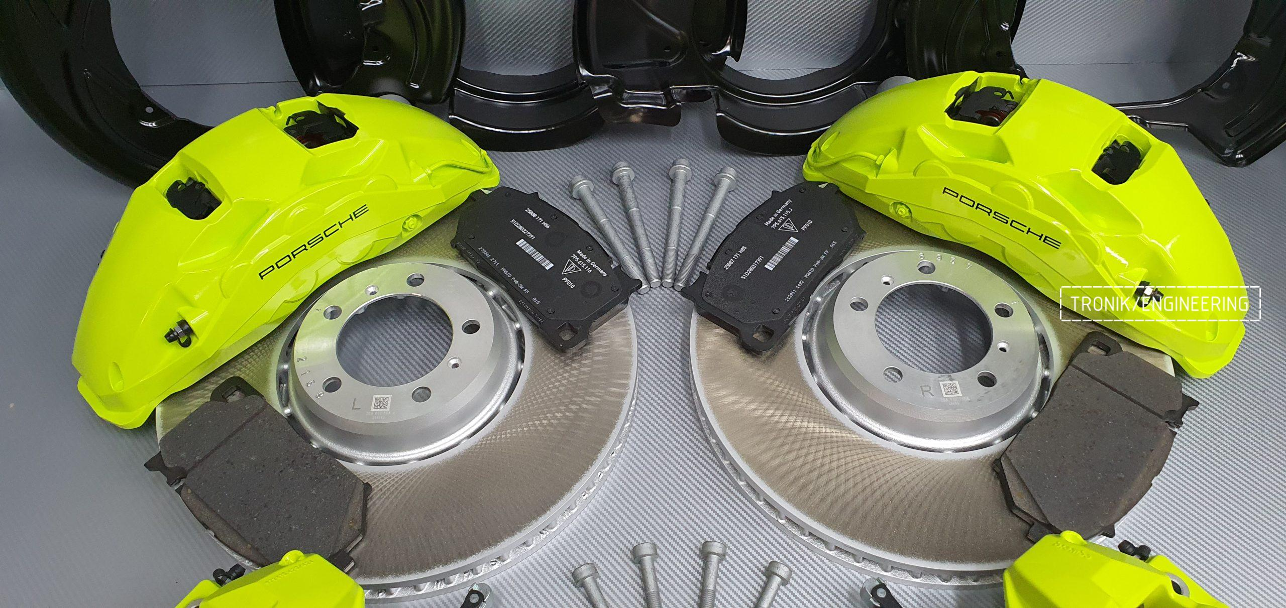 Комплект дооснащения тормозной системой Porsche Cayenne 9YA. Фотография 7