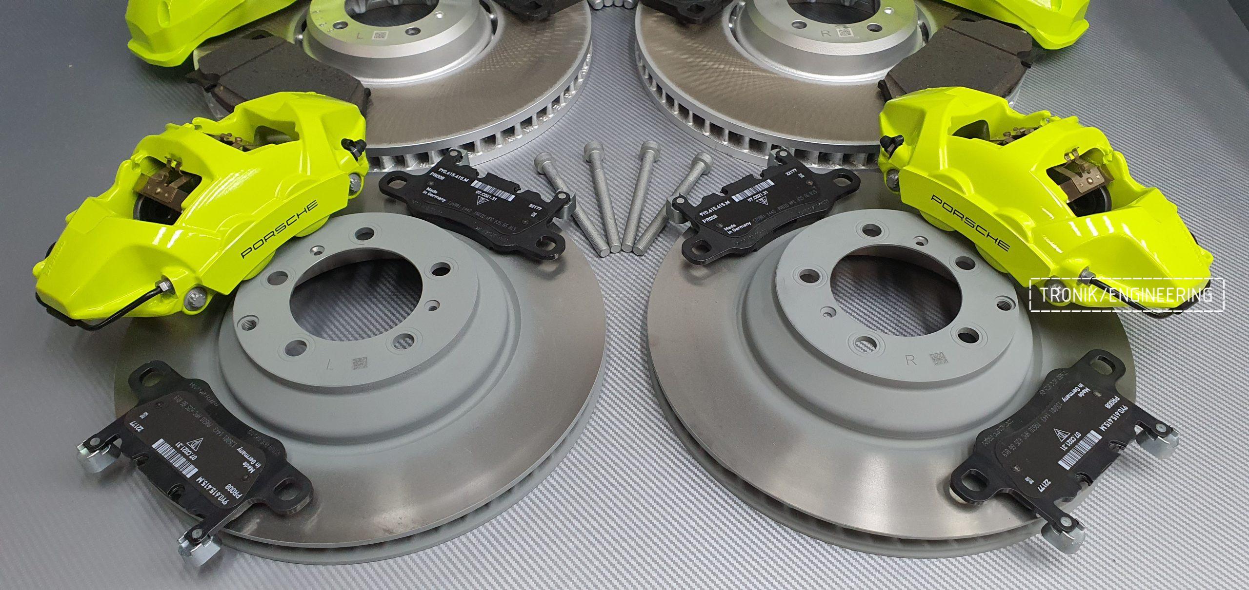 Комплект дооснащения тормозной системой Porsche Cayenne 9YA. Фотография 6