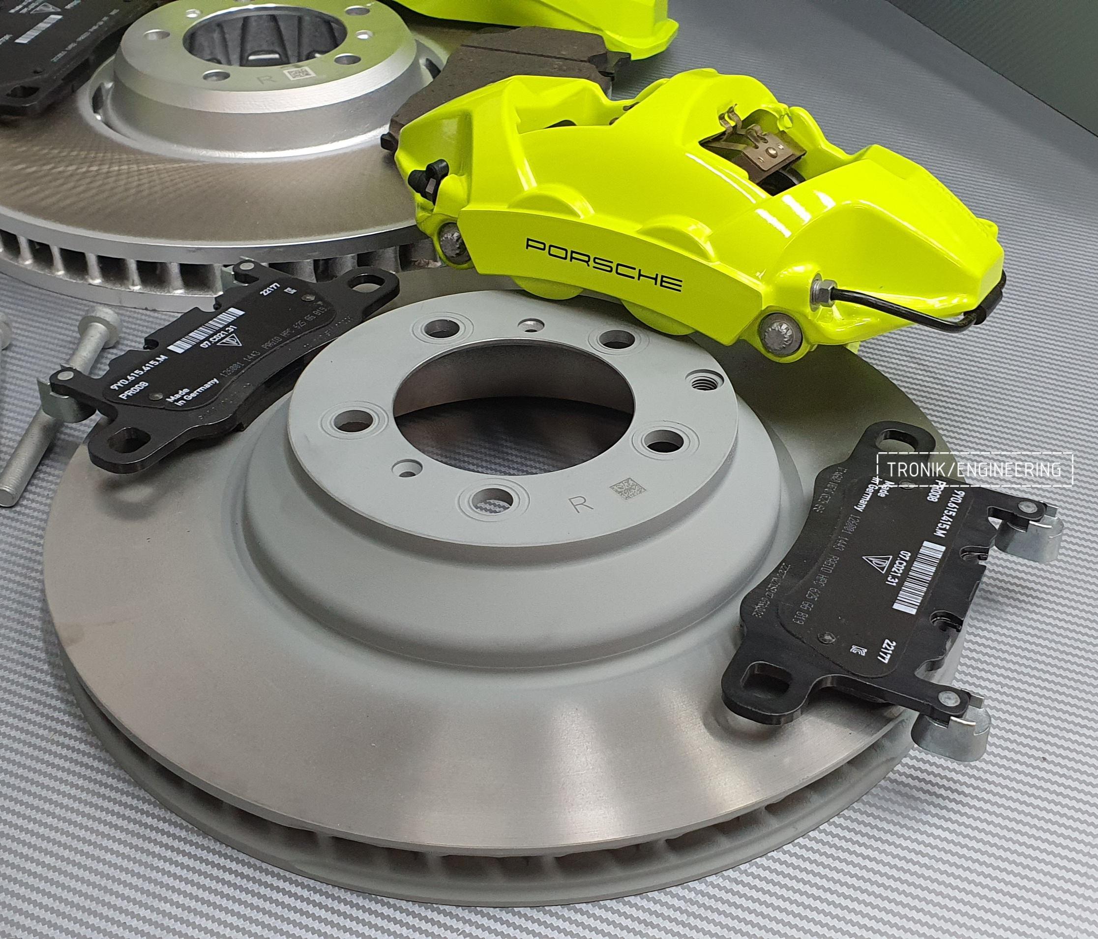 Комплект дооснащения тормозной системой Porsche Cayenne 9YA. Фотография 5