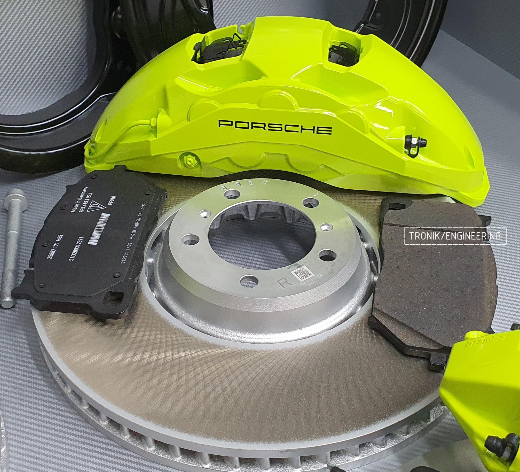 Комплект дооснащения тормозной системой Porsche Cayenne 9YA. Фотография 2