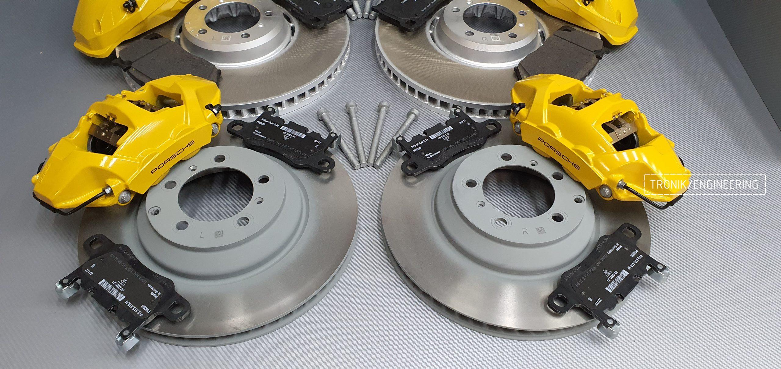 Комплект дооснащения тормозной системой Porsche Cayenne 9YA. Фотография 14