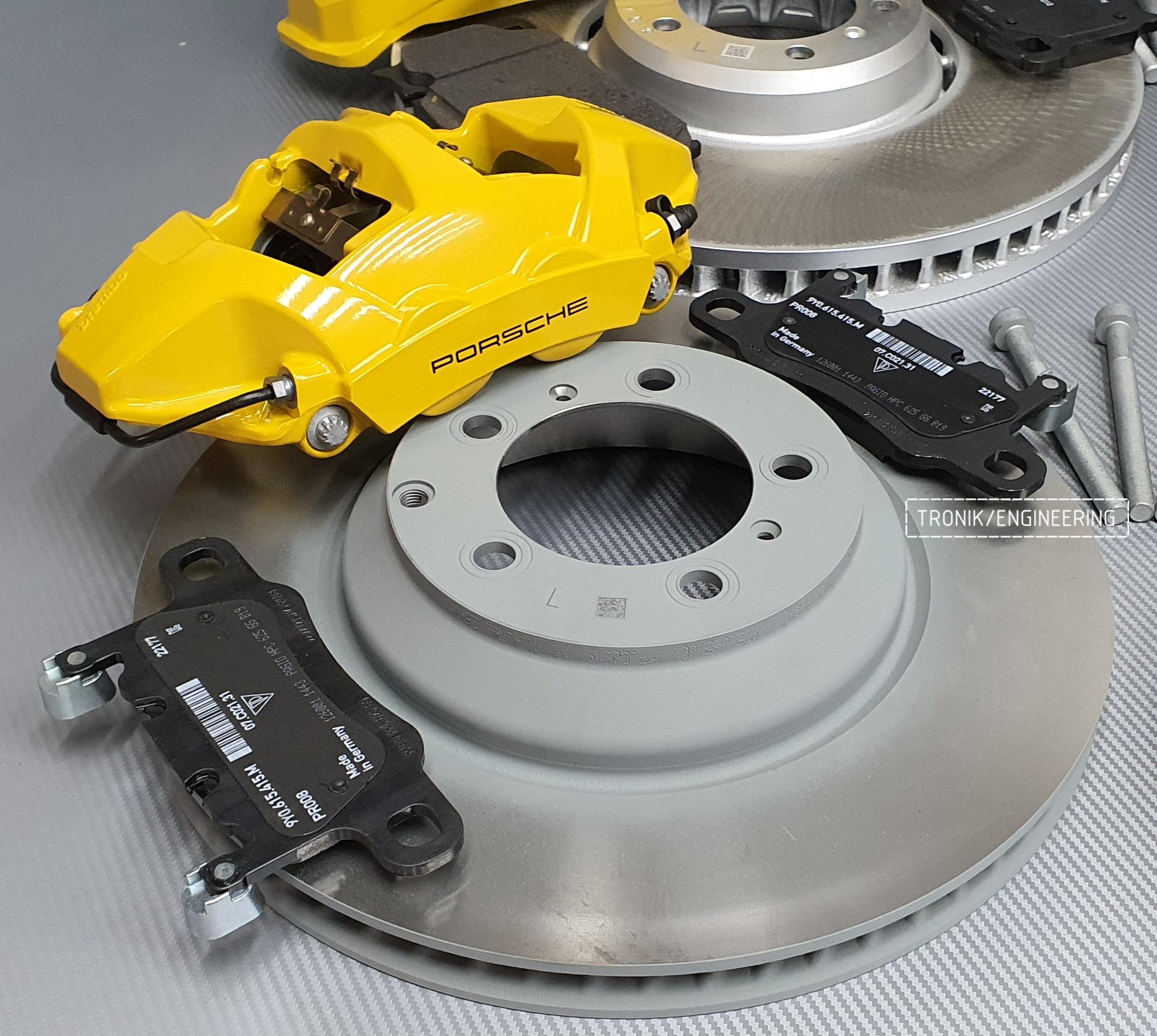 Комплект дооснащения тормозной системой Porsche Cayenne 9YA. Фотография 12
