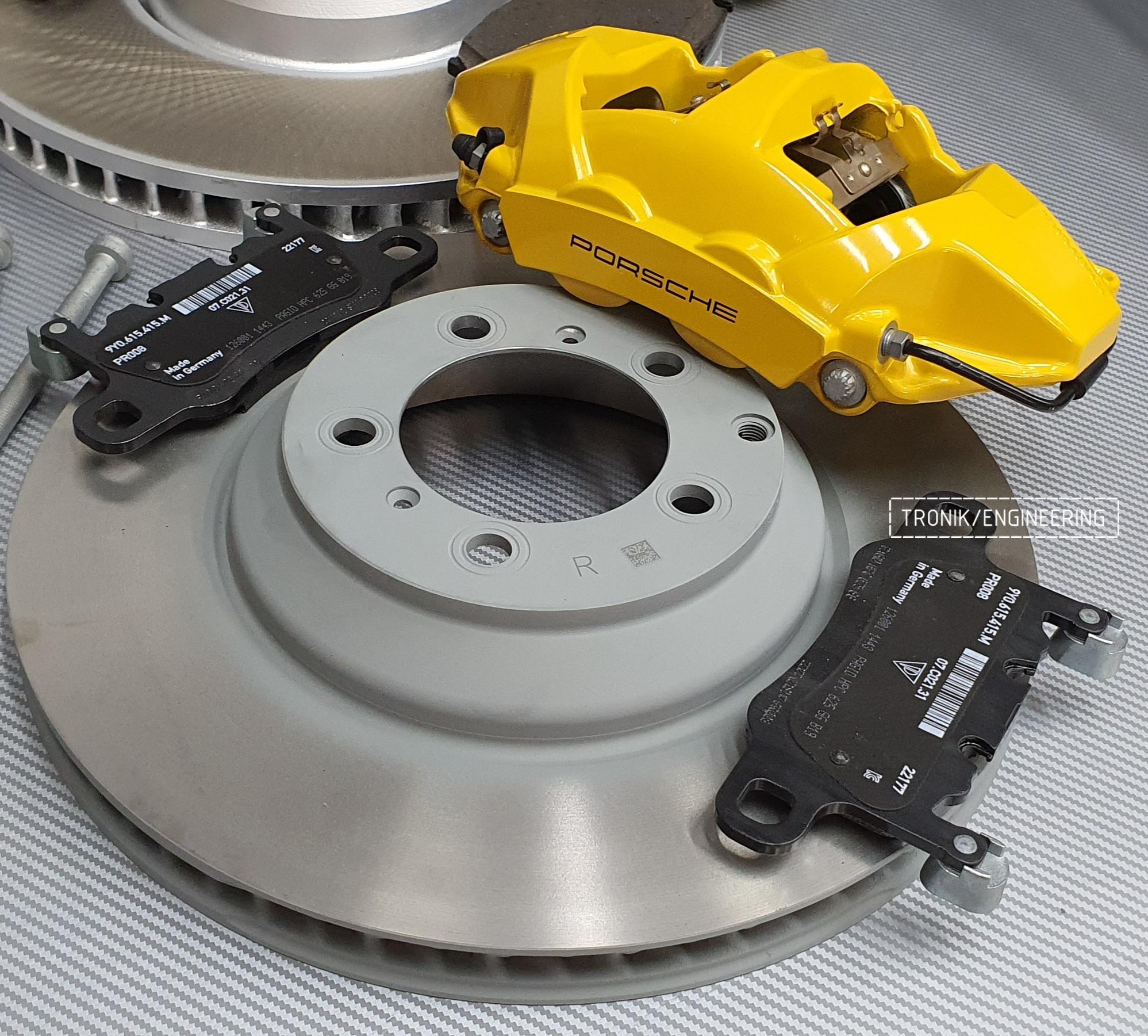 Комплект дооснащения тормозной системой Porsche Cayenne 9YA. Фотография 11