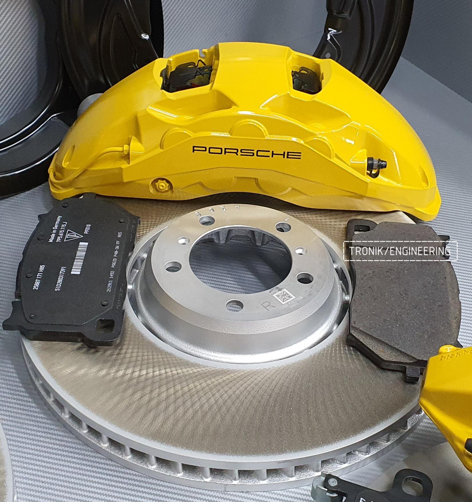 Комплект дооснащения тормозной системой Porsche Cayenne 9YA. Фотография 9