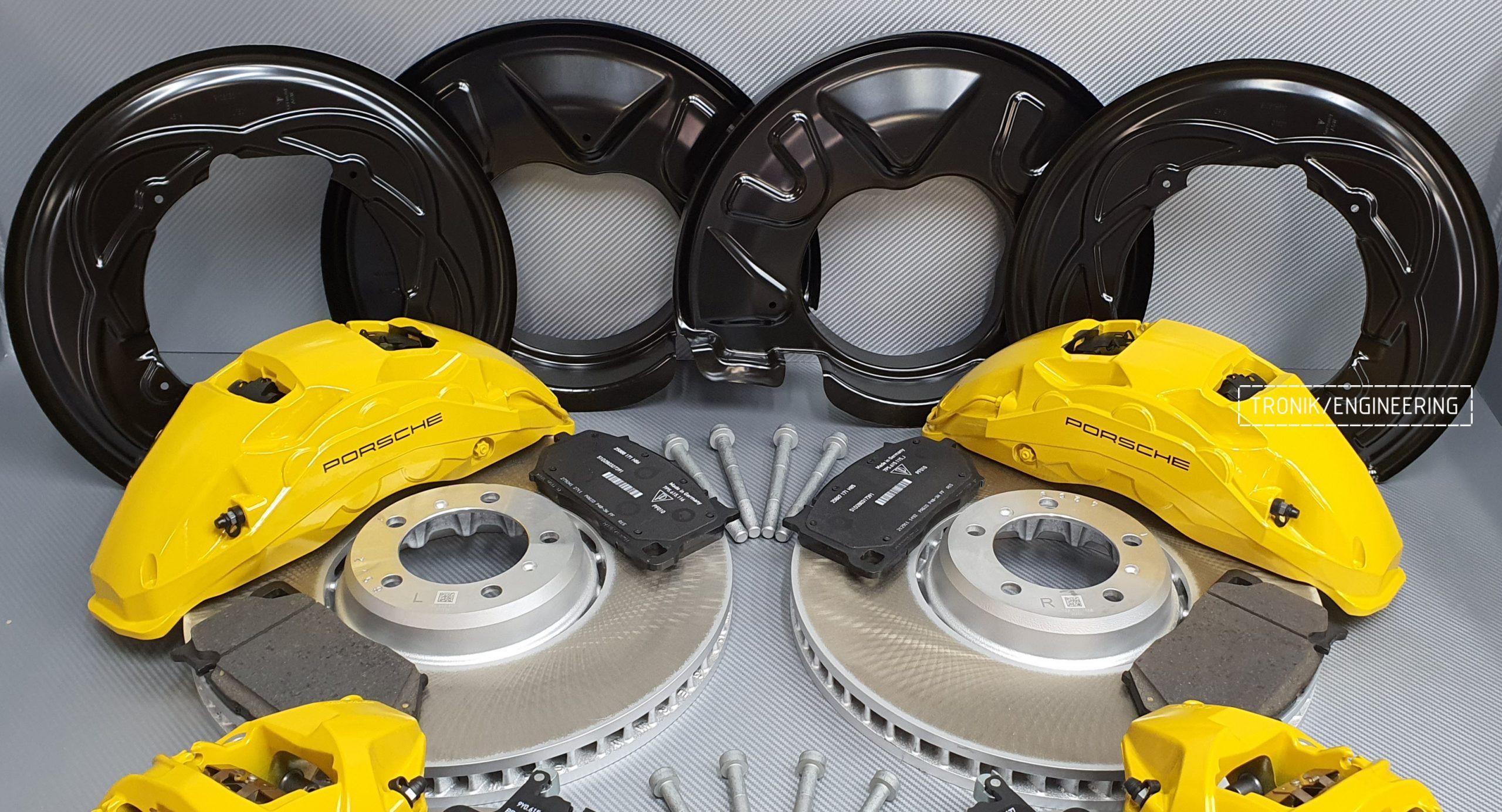 Комплект дооснащения тормозной системой Porsche Cayenne 9YA. Фотография 13