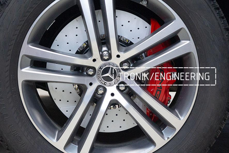 Установка тормозной системы на Mercedes-Benz W167. фото 13