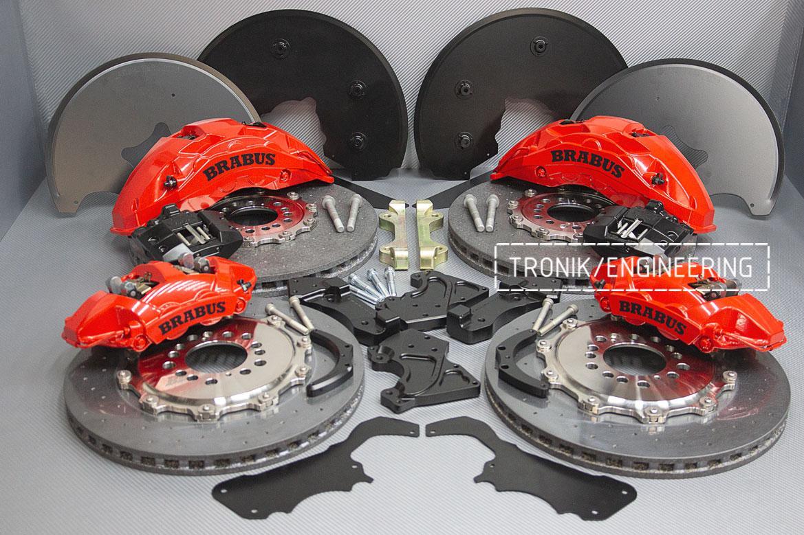 Комплект карбон-керамической тормозной системы Mercedes-Benz W463. Фото 1