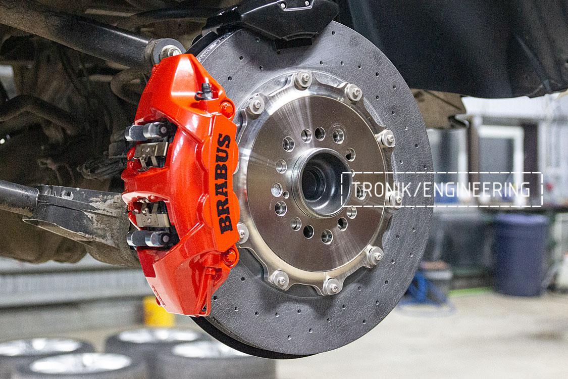 Задня ось карбон-керамическая тормозная система Mercedes-Benz W463.276 G-class. фото 3