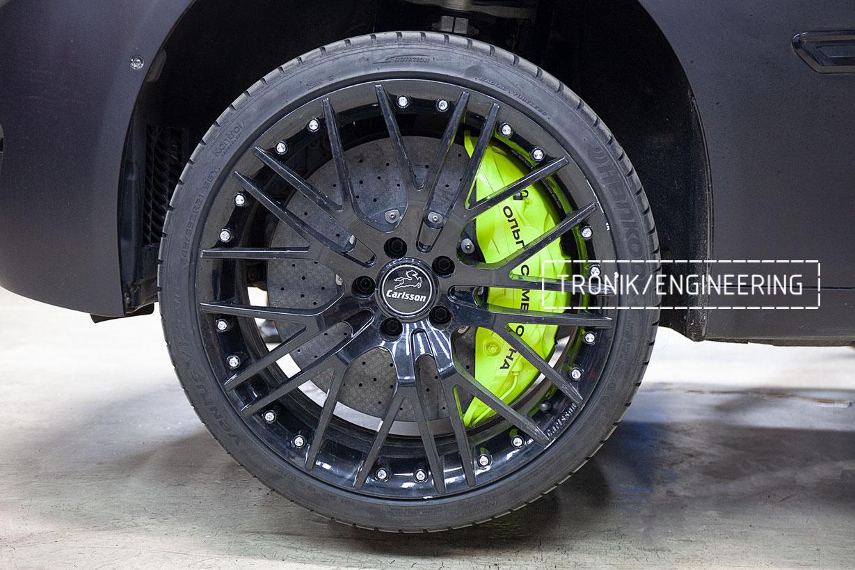 Карбон-керамические тормоза BMW 760 F02. фото 3