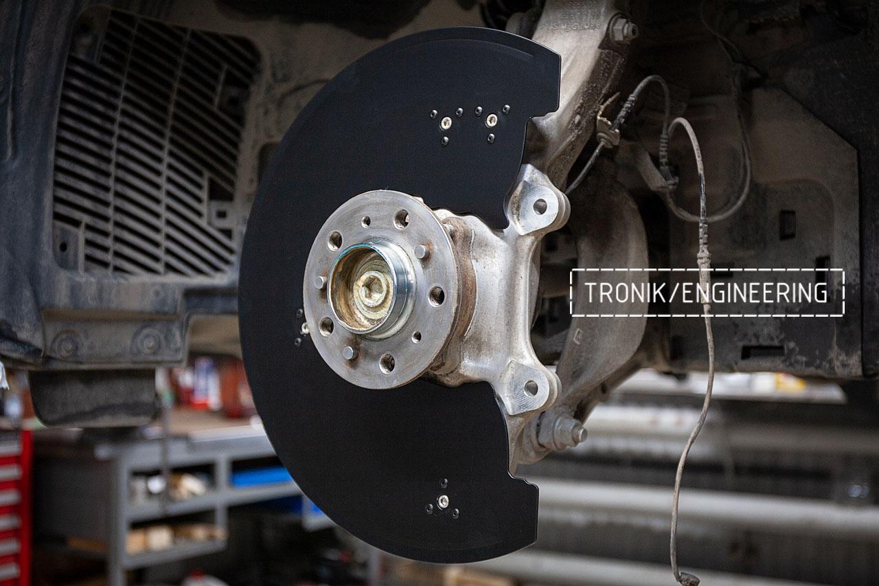 Защита переднего тормозного диска Бмв X5/X6