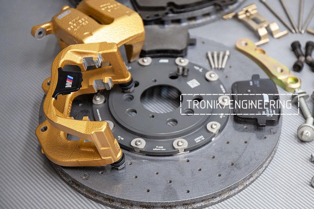 Комплект дооснащения карбон-керамической тормозной системой BMW X6 F96. фото 4