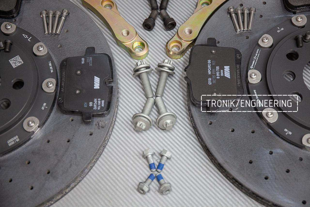 Комплект дооснащения карбон-керамической тормозной системой BMW X6 F96. фото 7