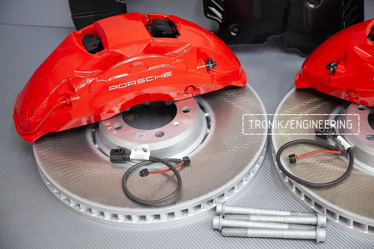 Комплект тормозной системы Porsche Panamera 971 передняя ось. фото 4