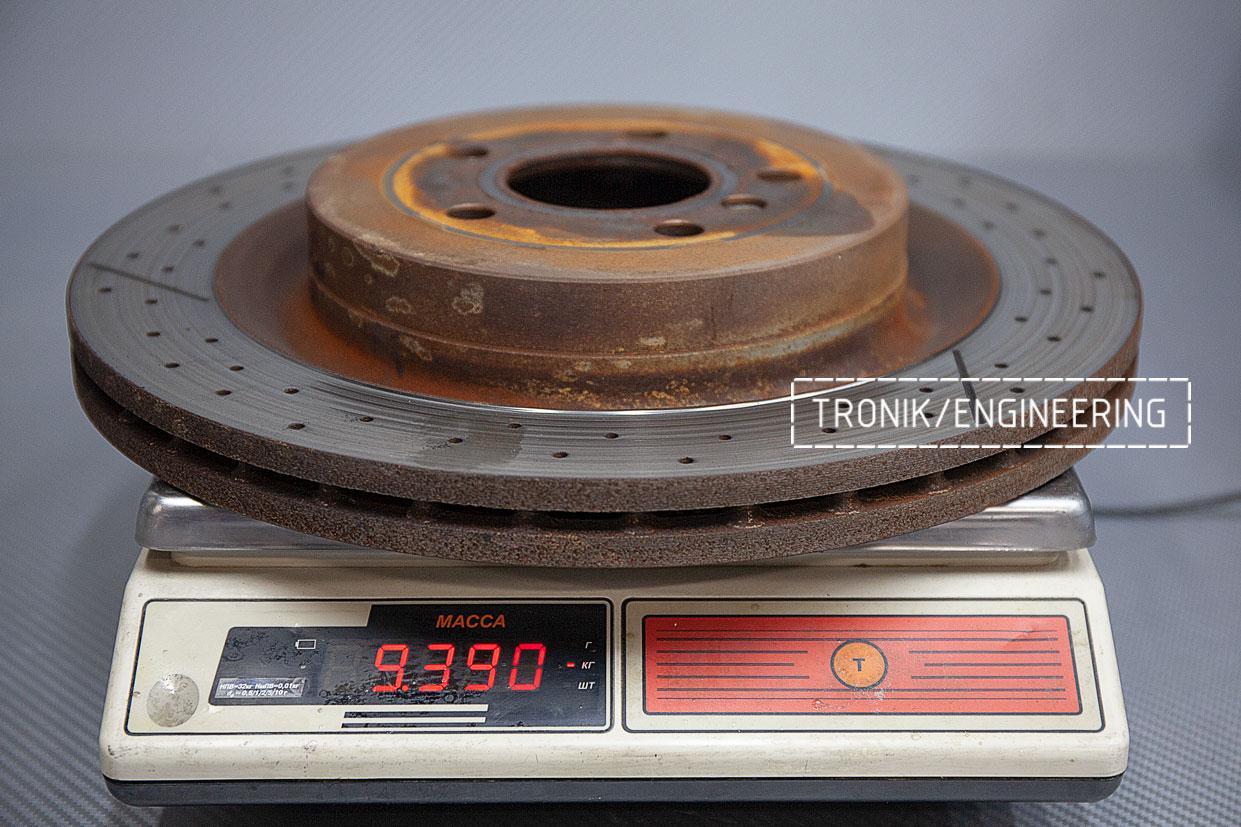 Задний оригинальный тормозной диск Mercedes-Benz GLE Coupe W292