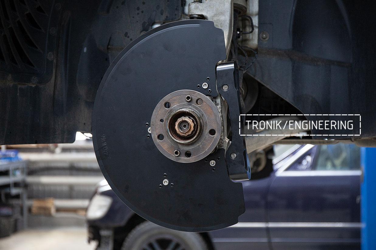 Защита передних тормозных дисков