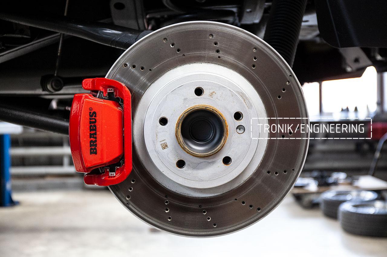 Оригинальный задний тормозной диск и суппорт Mercedes-Benz W463276 63AMG