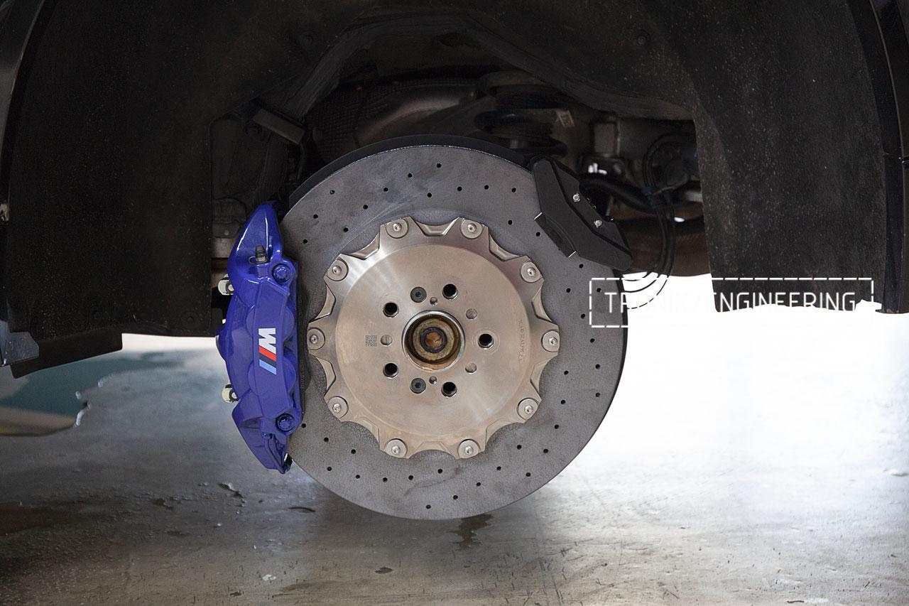 Керамическая тормозная система BMW F95 задняя ось. фото 1