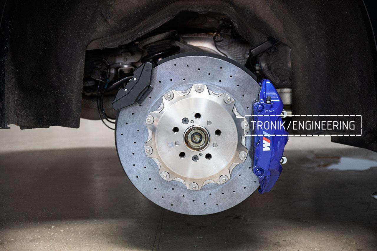 Керамическая тормозная система BMW F95 задняя ось. фото 2