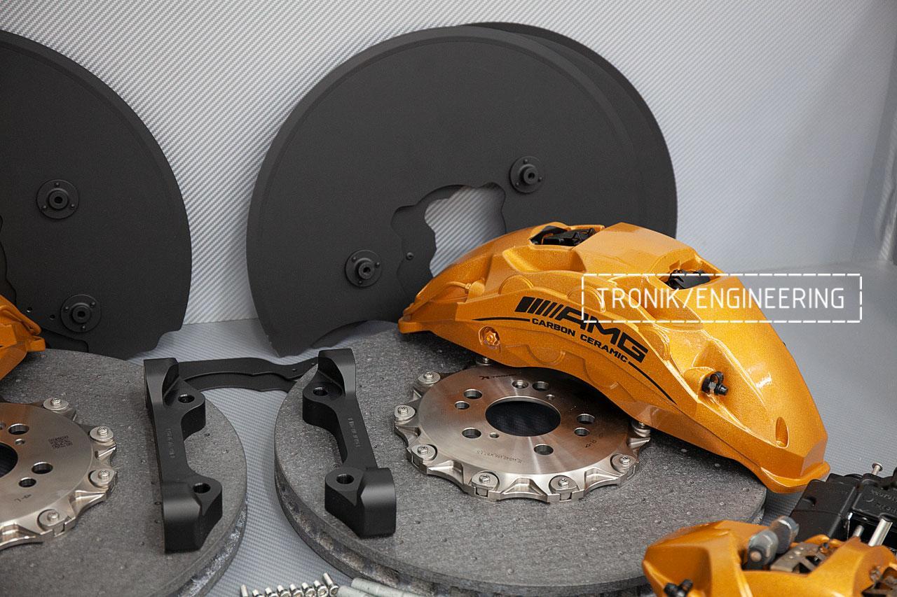 Комплект карбон-керамической тормозной системы Mercedes-Benz W167. фото 3