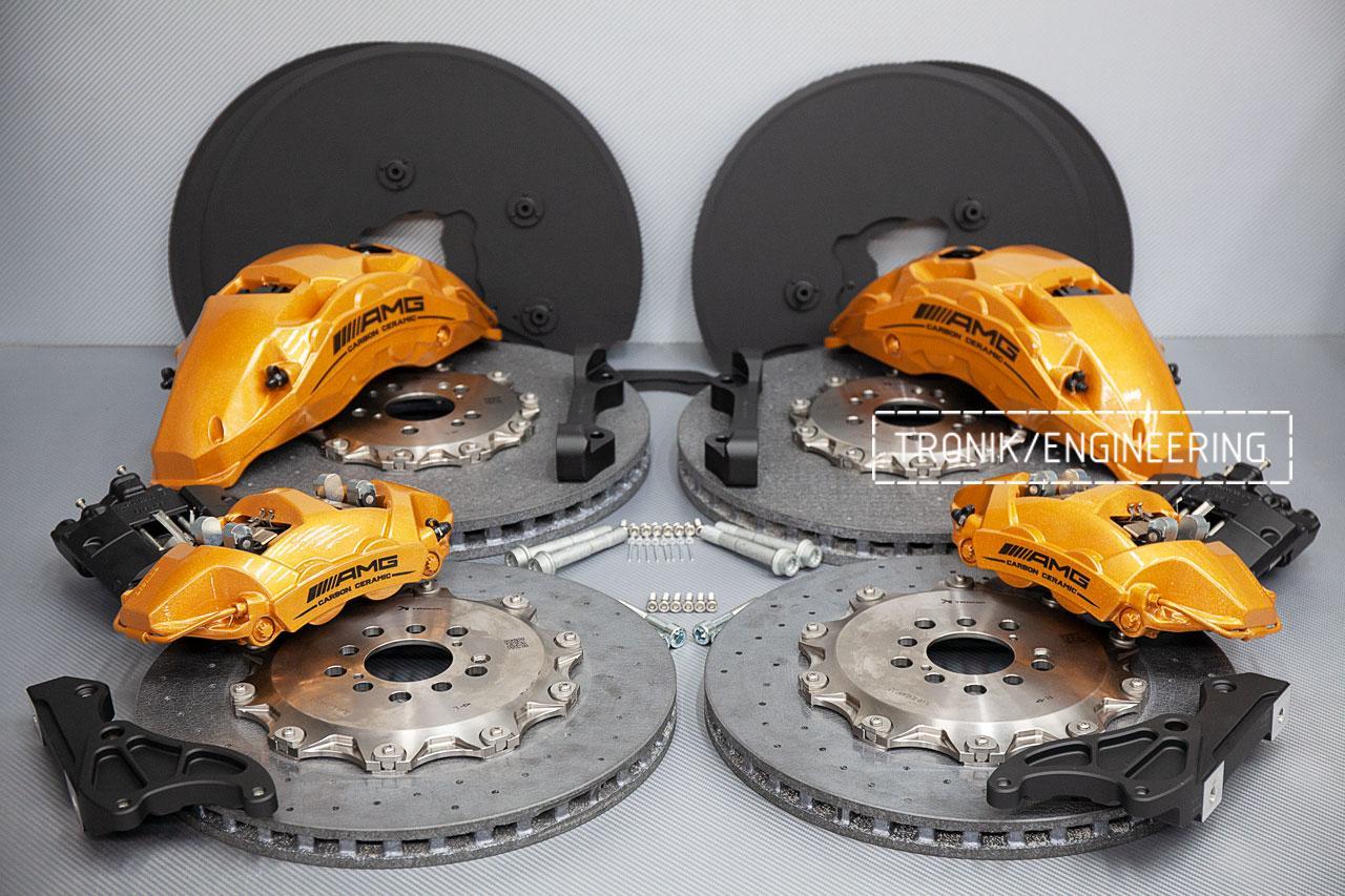 Комплект карбон-керамической тормозной системы Mercedes-Benz W167. фото 8