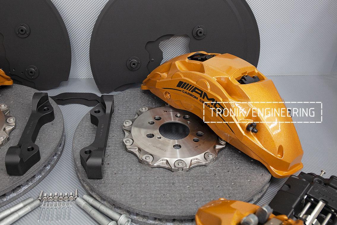 Комплект карбон-керамической тормозной системы Mercedes-Benz W167. фото 9